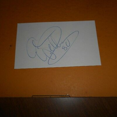 Anson Williams an American actor, singer director Hand Signed 5 x 3 Index Card