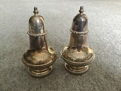 silver plated salt and pepper set