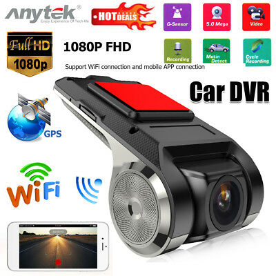 Anytek X28 FHD 1080P WiFi Car DVR Camera G-Sensor ADAS Dash Cam Video Recorder