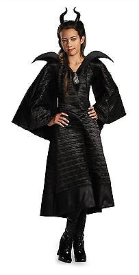 Disney Maleficent Christening Black Gown Child Deluxe Movie Costume Cosplay M-L