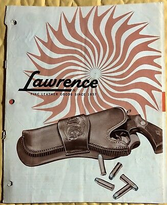 Vintage 1960's George Lawrence Leather Co. Firearms Holsters Catalog