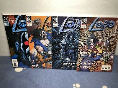 LOBO #1-4 Mini-Series 1990 DC Comics
