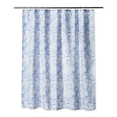 Marble Shower Curtain Bicycle Blue