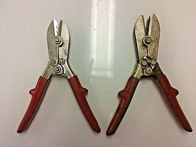 Used Malco C1 & C5 Pipe Crimpers 5 Blade HVAC Tool for Sheet Metal Duct Work
