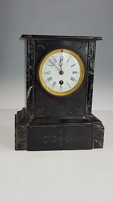 French Marble/Slate Mantle Clock Spares or repairs