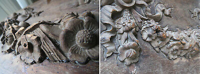 1900s Master Carver Flower Floral Garland Swag Wood Plaster Mold Jungwirth Co