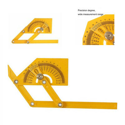 0-180° Portable Angle Finder Plastic Protractor Goniometer Miter Gauge