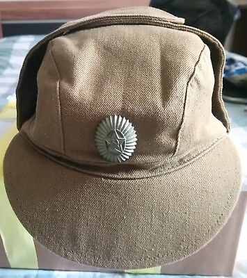 Soviet Russian Army Officer's Field Cap with Officer's Badge - 1989