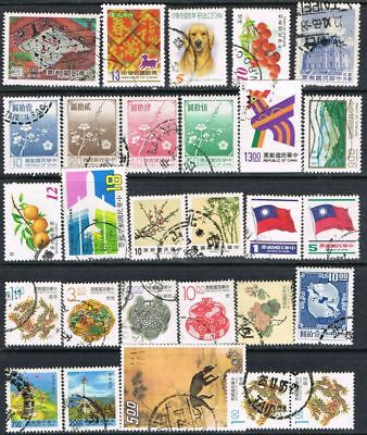 Taiwan/Republic of China. Small selection of 28 used stamps.