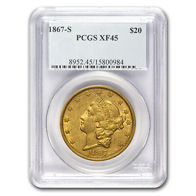 1867-S $20 Liberty Gold Double Eagle XF-45 PCGS - SKU#176721