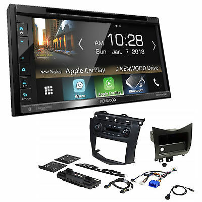"Kenwood Excelon Double DIN 6.8"" CD/DVD Radio Bluetooth Install Dash Kit Harness"