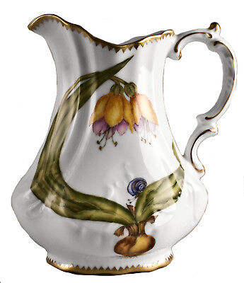 M328 - Anna Weatherley Orchid Pitcher 7.25""