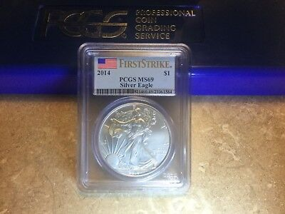 2014 American Silver Eagle PCGS MS-69 First Strike