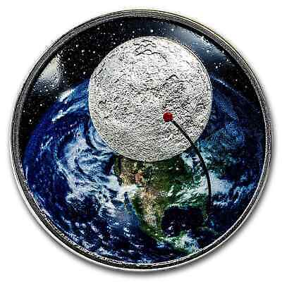 2019 Niue 1 oz Silver 50th Anniversary Moon Landing Curved Proof - SKU#173177