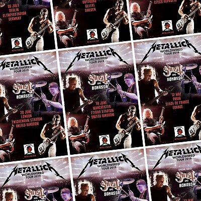 METALLICA WorldWired 2019 European/UK Tour PHOTO Print POSTER Self Destruct Art