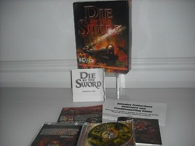 Die by the Sword PC Video Game 1998 Big Box VIDEO GAME INTERPLAY 3D COMBAT cod