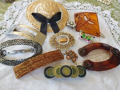Lovely Huge Mixed Collection of Vintage 1950s/60s/70s Hair Slides Clips