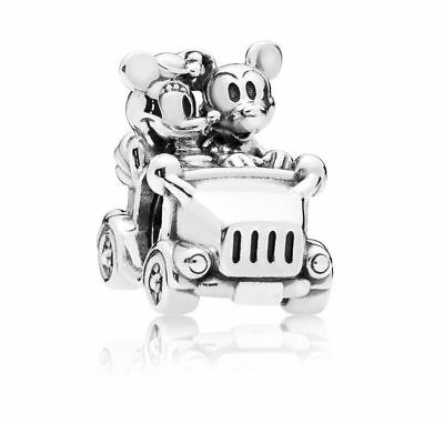 Authentic PANDORA -DISNEY, MICKEY & MINNIE VINTAGE CAR CHARM 925 Sterling Silver