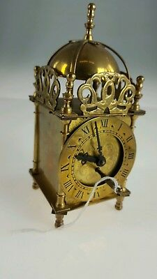 VINTAGE BRASS SMITHS LANTERN CLOCK - WIND UP MOVEMENT (Spares or Repair)