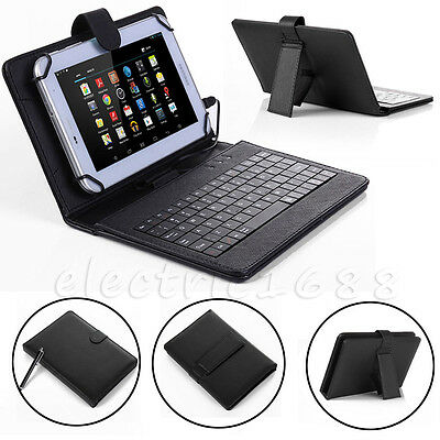 For Amazon Kindle Fire HD 8 8th Gen 2018 Micro USB Keyboard Leather Case Cover