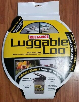 Luggable Loo Seat Cover Bucket Potty Portable Toilet Emergency Camping Travel