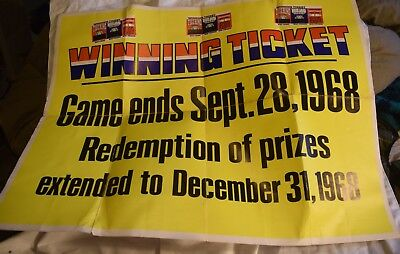 NM-084 Humble Oil Gasoline Service Station Wall Poster The Winning Ticket Game