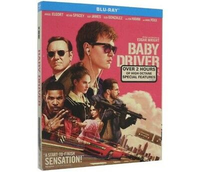Baby Driver Blu Ray w/ Slipcover 2017 Movie New Sealed Jamie Foxx US SELLER