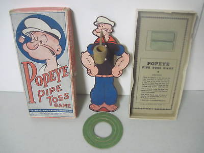 Vintage 1935 Popeye Pipe Toss Game Complete In Original Box