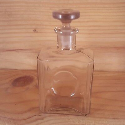 Vintage PALMER Perfume Bottle with GROUND STOPPER Blown In Mold