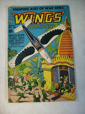 Wings Comics #48 Skull Squad, Fighting Aces, Greasemonkey, 1944