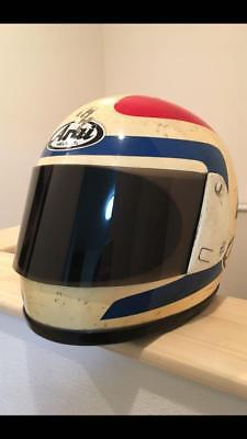 Arai Spencer Replica Size Large Sports Helmet Motor Cycle Smoke Shield Rare F/s
