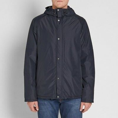 NEW Barbour Mens Rydal Waterproof Breathable Hooded Jacket - Navy Blue - Small