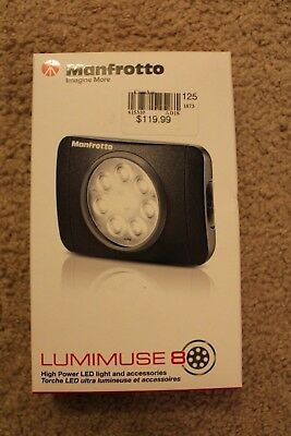 NEW Manfrotto LUMIMUSE 8 LED On-Camera Light and Accessories - Black