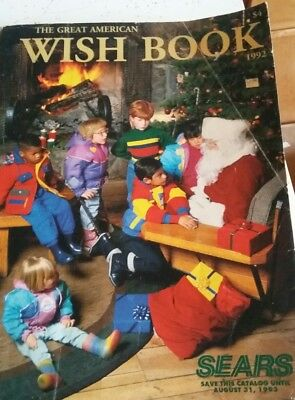 Vtg SEARS CATALOG ~ THE GREAT AMERICAN WISH BOOK ~ 1992/1993 CHRISTMAS / TOYS