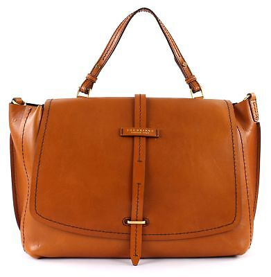 THE BRIDGE Dalston Double Function Umhängetasche Aktentasche Tasche Braun
