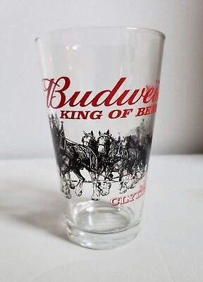 Budweiser Clydesdale Collectible Pint Glass  (PG!4)