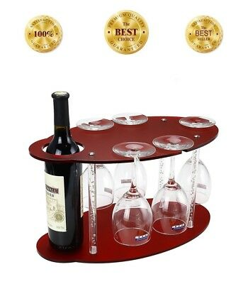 Wine Glass Rack Cabinet Stemware Holder Organizer Wood Home Cabinet Bar/Pub, NEW