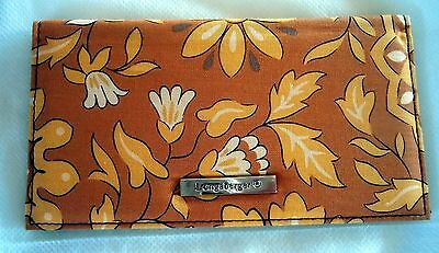 ~ Longaberger Checkbook Cover ~ Golden Fields Fabric  ~ BRAND NEW ~ Yellow