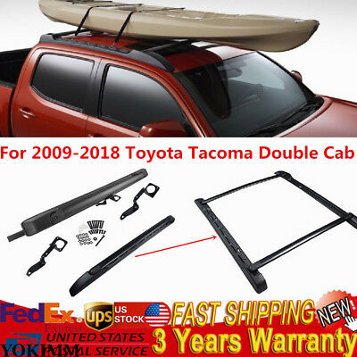 Double Cab Stowaway Roof Rails Rack Package Carrier Kit For 09-18 Toyota Tacoma