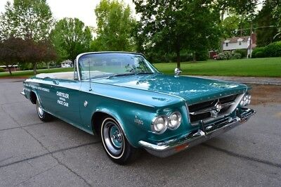 "1963 Chrysler 300 Series Pace Car BEAUTIFUL 1963 CHRYSLER 300 PACE SETTER ""PACE CAR"" CONVERTIBLE"