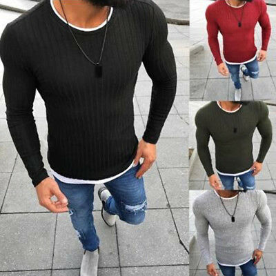 Men's Thermal Cotton Turtle Neck Skivvy Turtleneck Sweaters Tops Stretch
