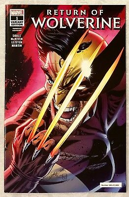 Return Of Wolverine #1 J Scott Campbell Variant, High Grade, Marvel Comics