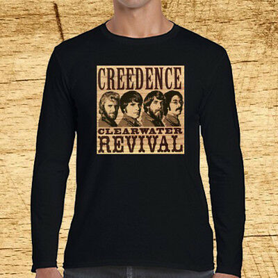 New CCR Creedence Clearwater Revival Chronicle Men/'s Black T-Shirt Size S to 3XL
