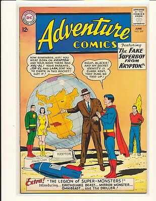 Adventure Comics # 309 1st Legion of Super-Monsters VG Cond. slight water damage