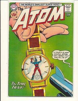 Atom # 3 - 1st Chronos & Time Pool story VG Cond. price sticker on cover
