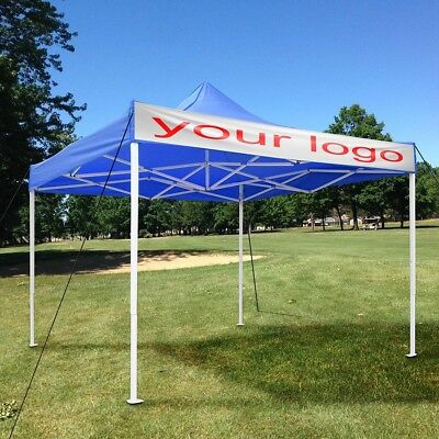 10x10ft Outdoor Ez Pop Up Wedding Party Tent Canopy Sunshade Shelter Blue w/ Bag