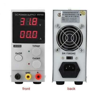 EU/US/AU Plug 30V 10A Switching Adjustable DC Bench Power Supply LCD Digital Lab