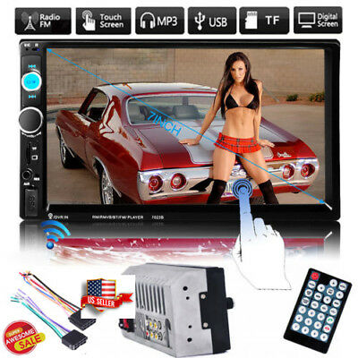 "7"" Double 2 Din Car MP5 Player Bluetooth Touch Screen Stereo Radio FM/USB/SD SAK"