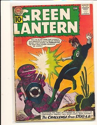 Green Lantern # 8 Fair Cond. tape inside cover/removed from spine