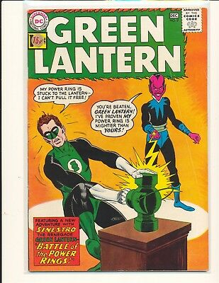 Green Lantern # 9 - 1st Sinestro cover VG+ Cond. price sticker on cover